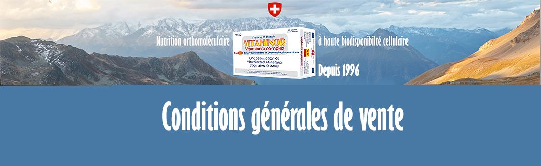 conditions generales de vente Vitaminor